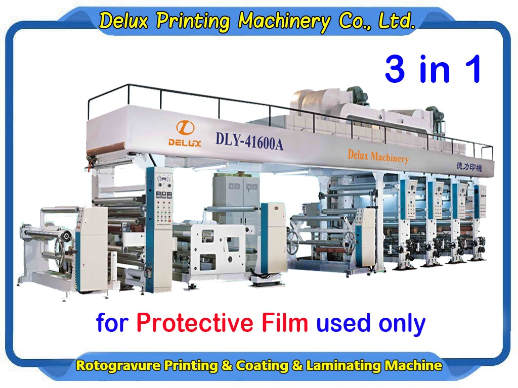 Rotogravure Printing & Laminating & Coating Machine for Protective Film used only