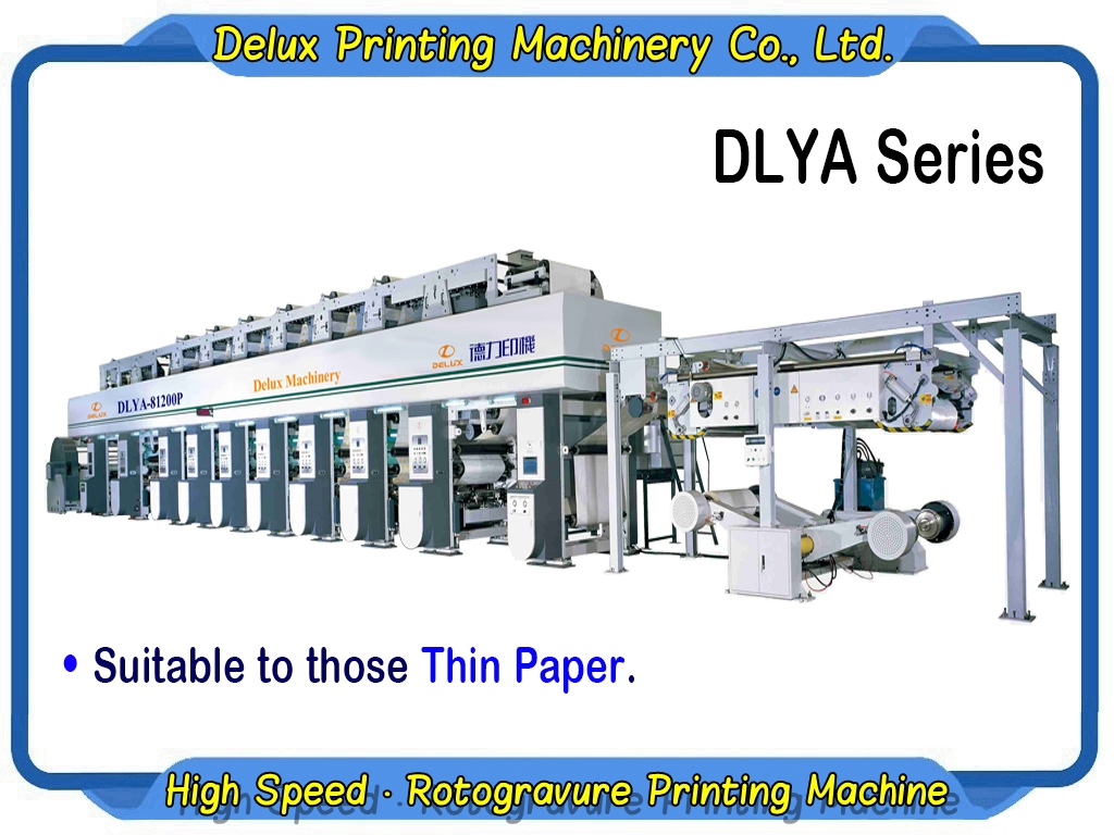 High Speed Electronic Shaft Printing Machine for Thick Paper